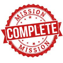 Mission Complete Stamp