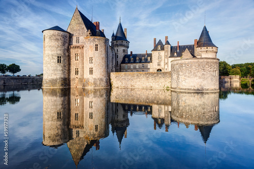 Spoed Fotobehang Kasteel The chateau of Sully-sur-Loire, France