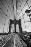 Fototapeta Bridge - Brooklyn Bridge black and white