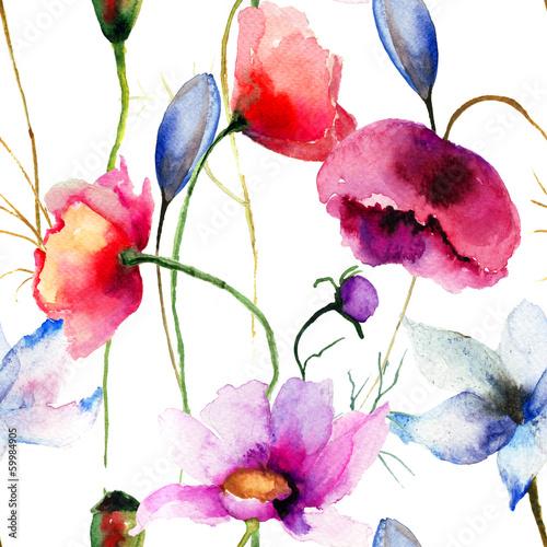 bezszwowa-tapeta-z-dzikimi-kwiatami