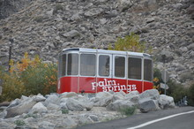 PALM SPRINGS, CALIFORNIA - DEC 16: Palm Springs Aerial Tramway In Palm Springs, California, As Seen On Dec 16, 2013. These Original Tram Cars Are On Static Display Near The Entrance To Valley Station.