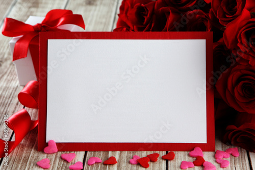 Photo  card with roses