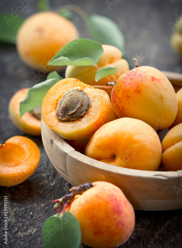 Fresh organic apricot Wallpaper Mural