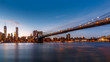 Brooklyn Bridge spanning the East River at dusk (40Mpx photo)