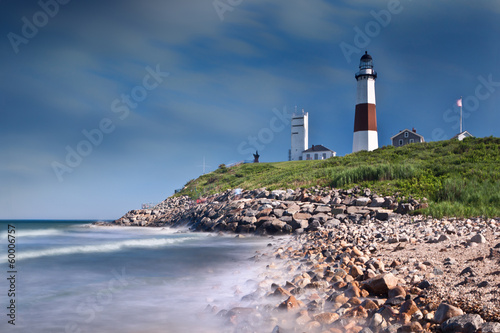 Photo sur Toile Phare Montauk Point Lighthouse in Long Island, NY