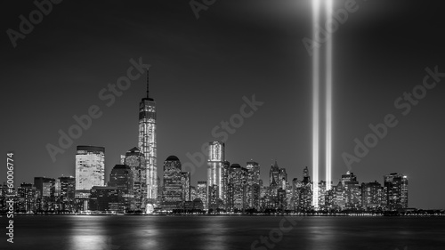Fényképezés  Tribute in Light, on September 11th, in New York City