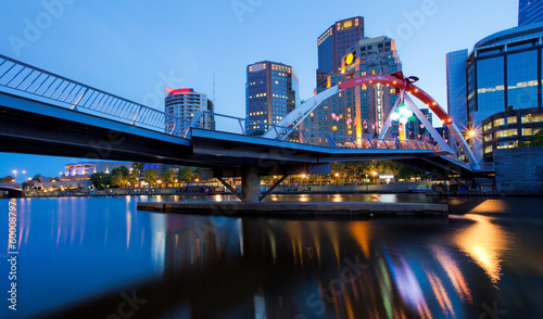 Melbourne on the night, Victoria, Australia