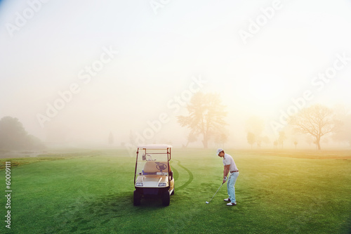 Deurstickers Golf ideal golf setting