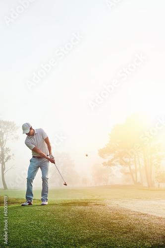 Deurstickers Golf chip shot golf