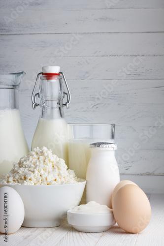Staande foto Zuivelproducten Dairy products