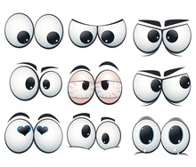 Cartoon Expression Eyes With D...