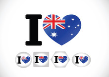 National Flag Of Australia Themes Idea Design