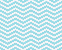 Teal And White Zigzag Textured...
