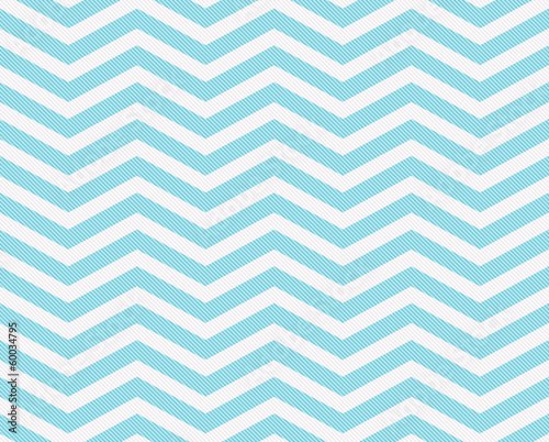 Photo Teal and White Zigzag Textured Fabric Background