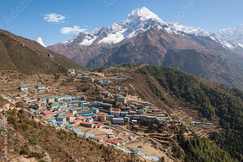 Staande foto Nepal Namche Bazaar, Himalaya, Nepal