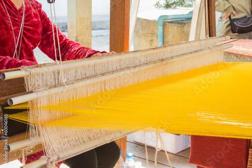Fotografie, Obraz  Traditional hand weaving in thailand