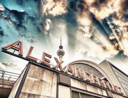 Railroad station Alexanderplatz in Berlin - Germany Wallpaper Mural