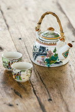 Chinese Porcelain Teapot And T...