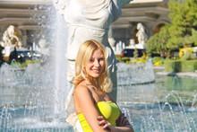 Vacation In Las Vegas. Girl On...