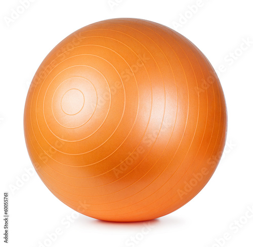 Cuadros en Lienzo Orange fitness ball isolated on white background