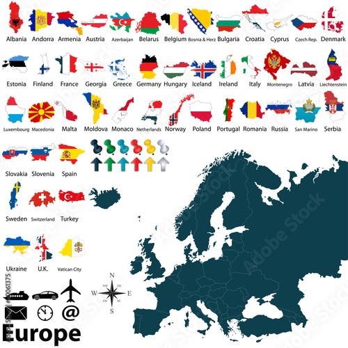 Plagát  Political map of Europe