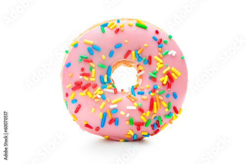 Photo  Delicious donut with sprinkles
