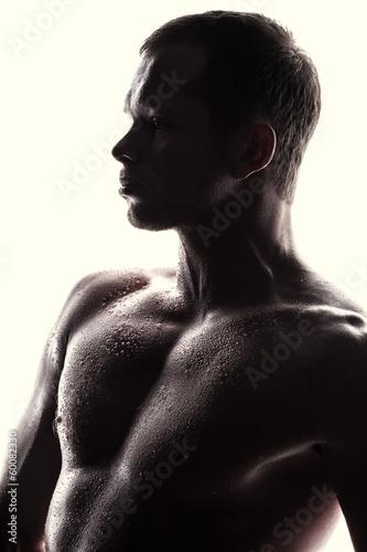 Fototapeta Handsome athlete obraz na płótnie
