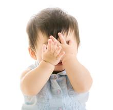 Baby Covering Eye