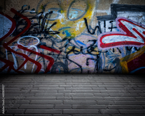 Foto op Aluminium Graffiti Urban Room Stage