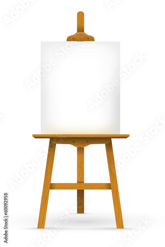 Cuadros en Lienzo Wooden easel with blank canvas
