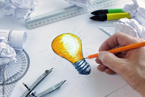 Fotografie, Obraz  Having a bright idea