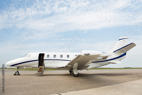 Private Jet Parked At Terminal