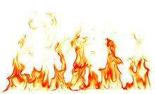 Fire Flames Isolated On White ...