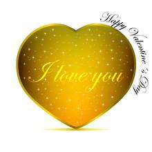 Valentine´s Day - Gold Heart