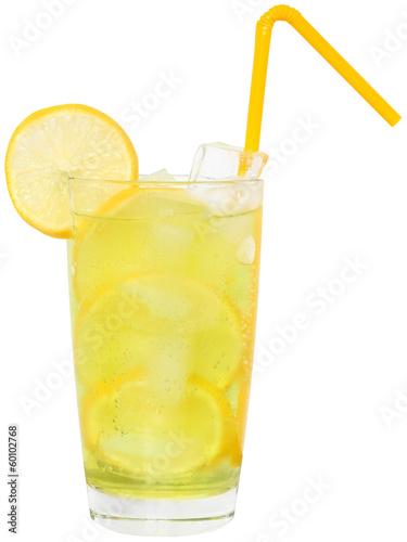 Valokuvatapetti Lemonade with ice cubes