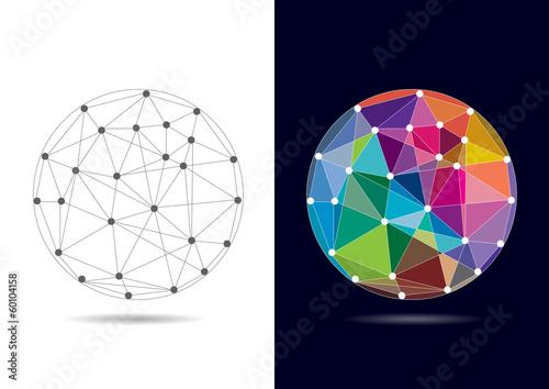 Fényképezés  Abstract Connected Globe - Vector Illustration