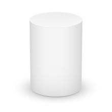 White Cylinder On White Background.