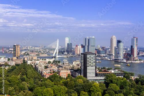 Staande foto Rotterdam Rotterdam Skyline vom Euromast