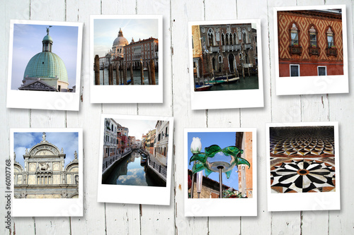 Deurstickers Graffiti collage Venezia
