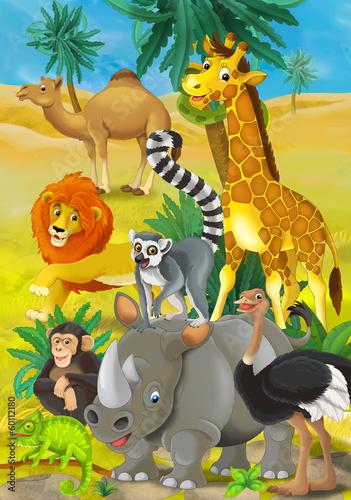 Forest animals - illustration for the children #60112180