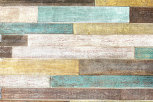 Vintage Colorful Wooden Planks
