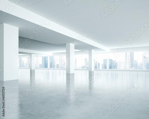 Staande foto Industrial geb. white office interior