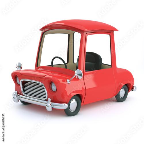 Papiers peints Cartoon voitures Cute red cartoon car side view