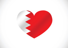 Bahrain Flag Themes Idea Design