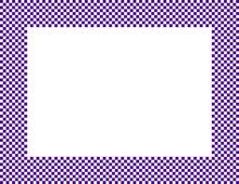 Dark Purple And White Checkere...