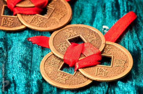 Photo  Chinese lucky coins