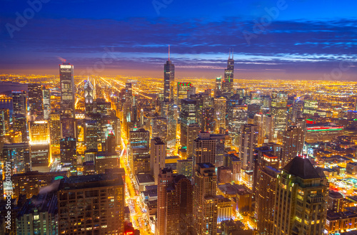 Foto op Canvas Chicago Chicago Skyline