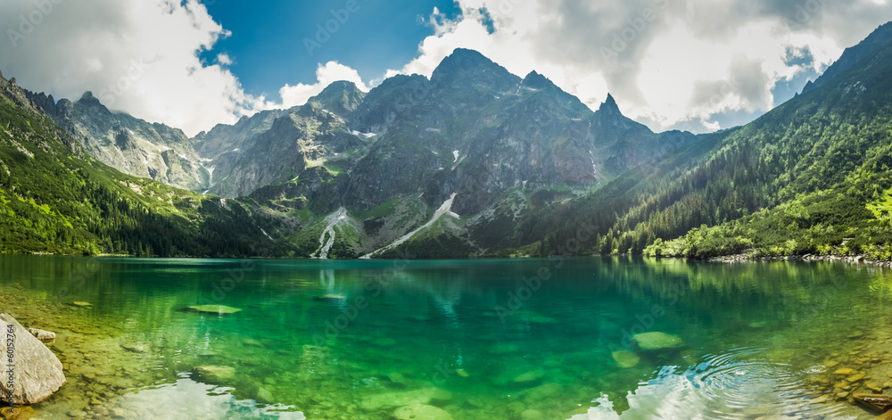 Fototapety, obrazy: View of a lake in the mountains