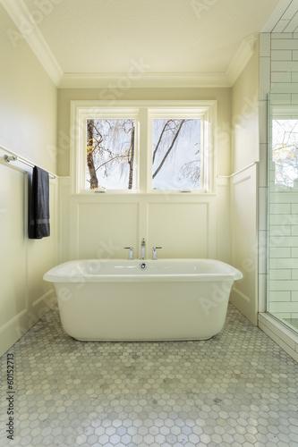 Fototapeta Master Bathroom Bathtub with Windows obraz na płótnie