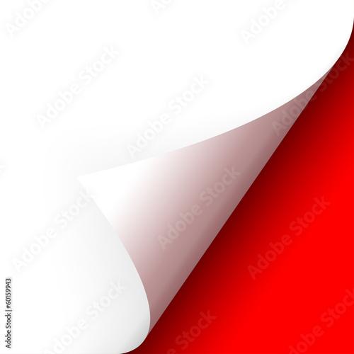 Fototapeta Papier - Ecke unten rot obraz